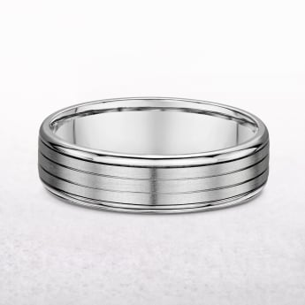 Gents Fancy Platinum Wedding Band