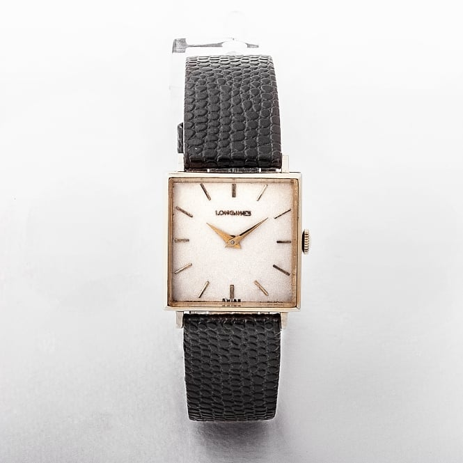 Gents Longines 14ct Yellow Gold Square Dial