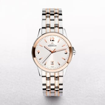 Gents Michel Herbelin Ambassador Stainless Steel & Rose Gold Plated