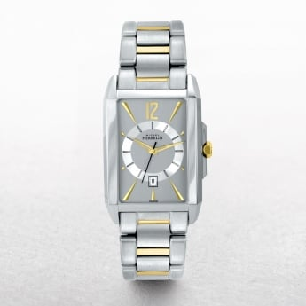 Gents Michel Herbelin Kharga Two Tone Rectangular Grey Dial