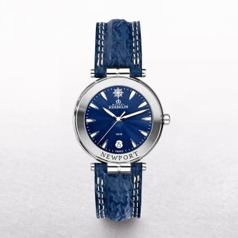 Gents Michel Herbelin Newport Watch With Blue Strap