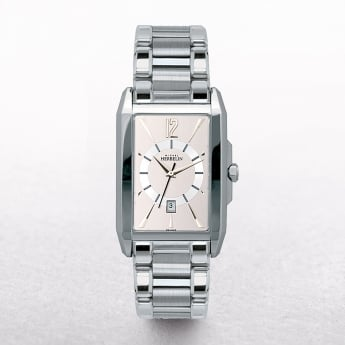 Gents Michel Herbelin Stainless Steel Rectangular Pink Dial