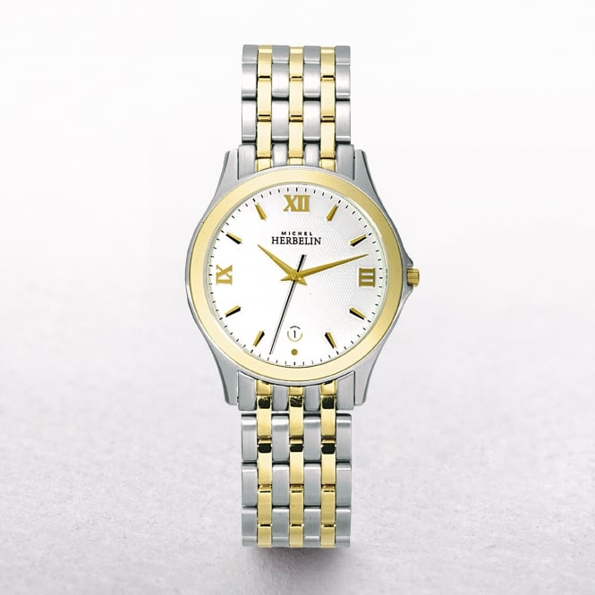 Gents Michel Herbelin Yellow Gold Plated & Stainless Steel