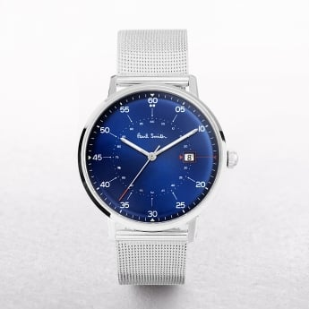 Gents Paul Smith Gauge Watch with a Navy Dial & Mesh Strap