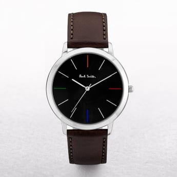 Gents Paul Smith Ma Watch with a Black Dial & Four Coloured Batons