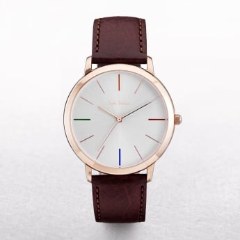 Gents Paul Smith Ma Watch with a White Dial & Four Coloured Batons