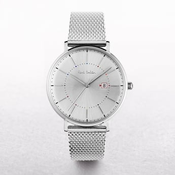 Gents Paul Smith Petit Track Watch with Date Window & Mesh Strap