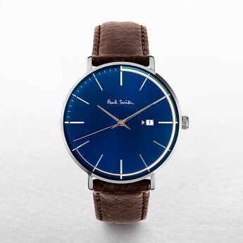 Gents Paul Smith Track Art Watch with Blue Dial