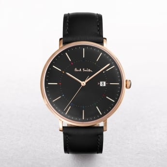 Gents Paul Smith Track Watch with a Black Dial on a Leather Strap