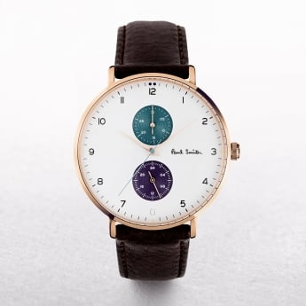 Gents Paul Smith Track Watch with Sub Dials on a Leather Strap
