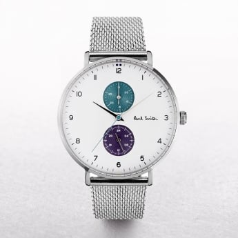 Gents Paul Smith Track Watch with Sub Dials on a Mesh Strap