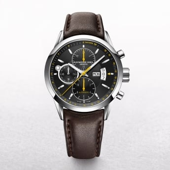Gents Raymond Weil Freelancer Automatic on Brown Strap. Model 7730-STC-20021.