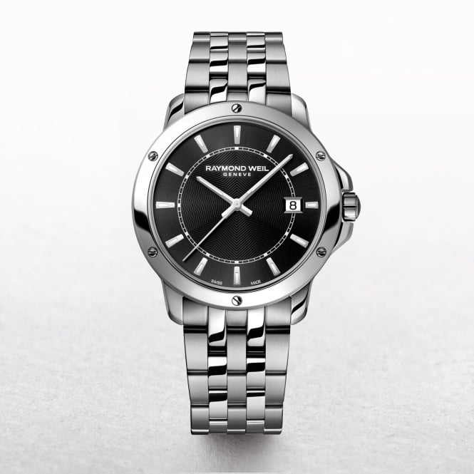 Gents Raymond Weil Tango Stainless Steel Round Black Dial