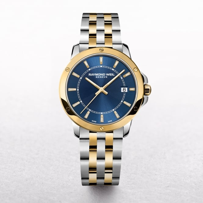Gents Raymond Weil Tango Two Tone Blue DIal