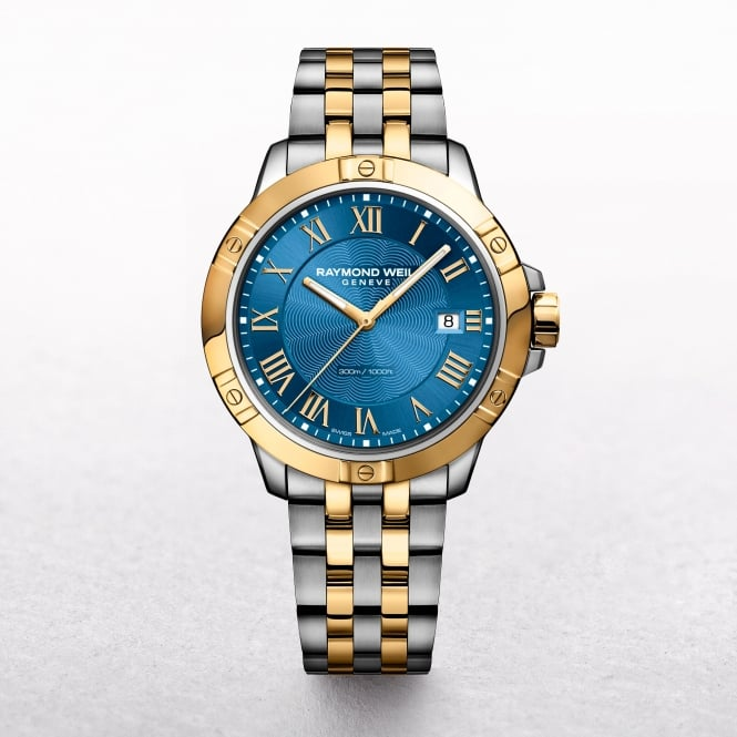 Gents Raymond Weil Tango Two Tone Round Blue Dial