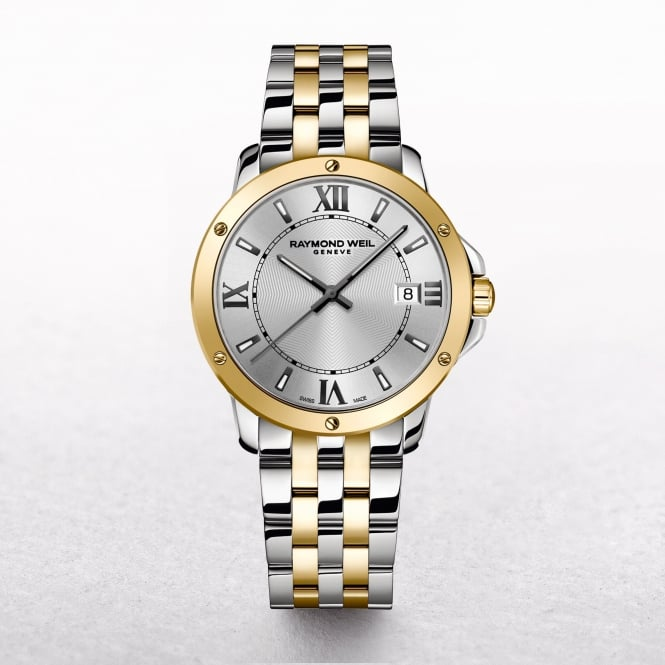 Gents Raymond Weil Tango Two Tone Round Silver Dial