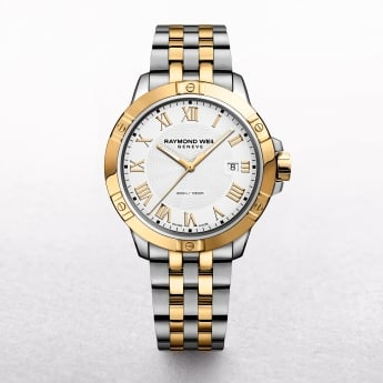 Gents Raymond Weil Tango Two Tone White Dial