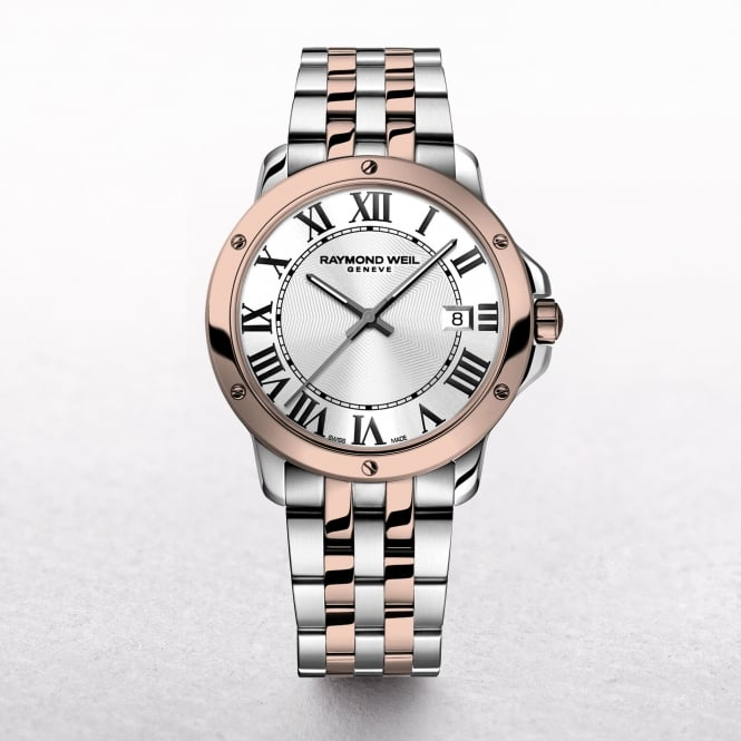 Gents Raymond Weil Tango White Dial Two Tone Rose Gold & Stainless Steel Watch