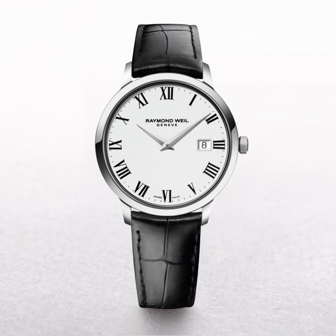 Gents Raymond Weil Toccata Stainless Steel on a Strap with Roman Numerals