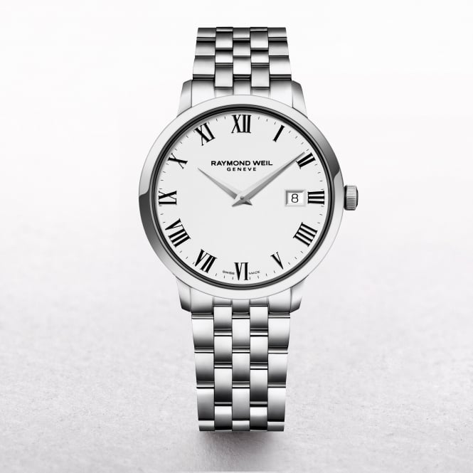 Gents Raymond Weil Toccata Stainless Steel on Round White Dial