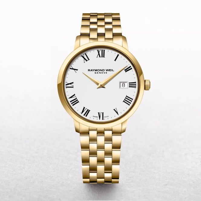 Gents Raymond Weil Toccata Yellow Gold Plated Stainless Steel with Roman Numerals