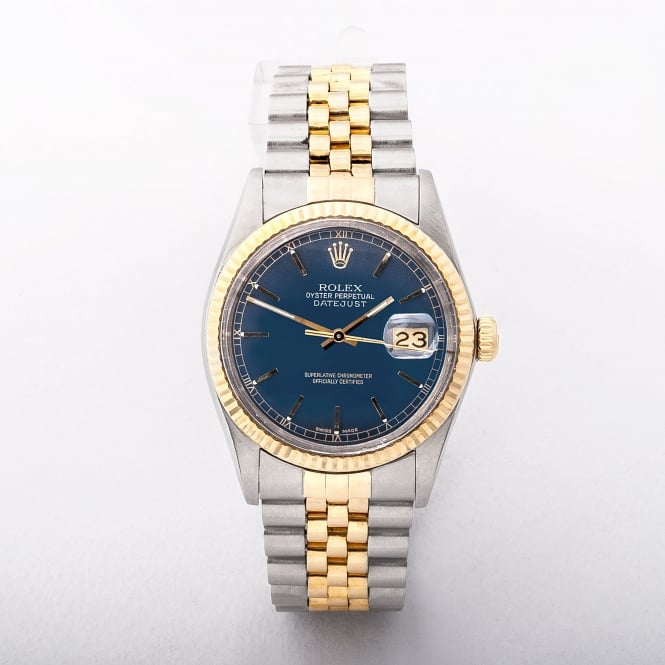 Gents Rolex Date Just With Blue dial on Two Tone Jubilee Bracelet