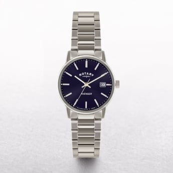Gents Rotary Avanger Stainless Steel Round Navy Dial