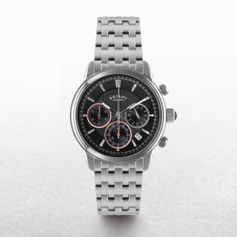 Gents Rotary Stainless Steel Round Two Tone Chronograph Dial
