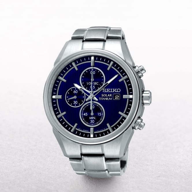 Gents Seiko Solar Powered Titanium Chronograph