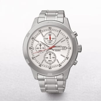 Gents Seiko Stainless Steel Chronograph Red Fly Hand