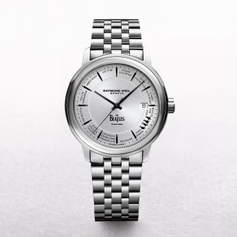Gents Stainless Steel BEATLES Automatic Raymond Weil Round Silver 748