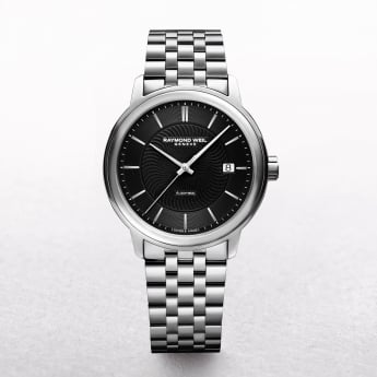 Gents Stainless Steel Raymond Weil Maestro Automatic Round Black Toccata
