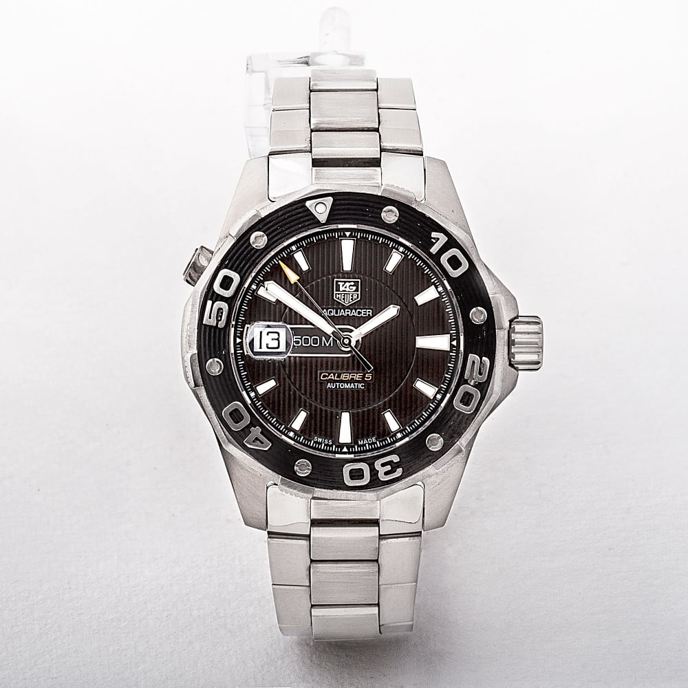 4d062739c70 Gents Tag Heuer Aquaracer Watch with Black Dial