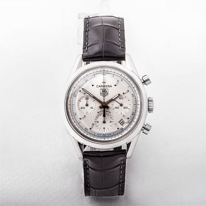 Gents Tag Heuer Carrera Chronograph Watch with White Dial