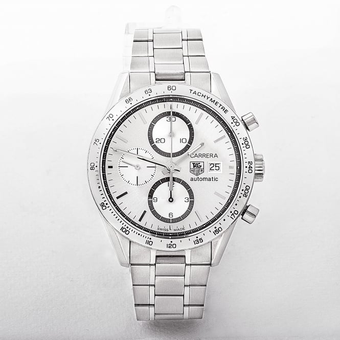 Gents Tag Heuer Clear Back Carerra Watch with Silver Dial