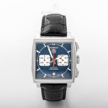 Gents Tag Heuer Monaco Chronograh Square Dial with Leather Strap