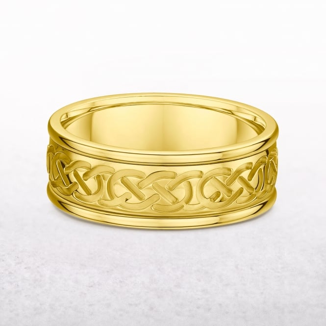 Gents Yellow Gold Celtic Knot Ring