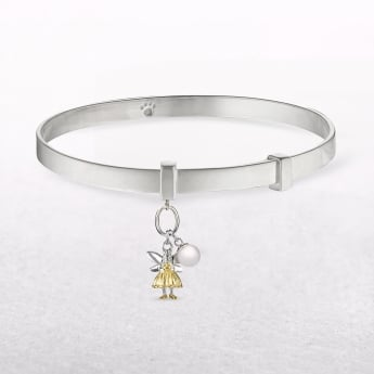 Gold & Pearl Fairy Wish Molly Brown Bangle