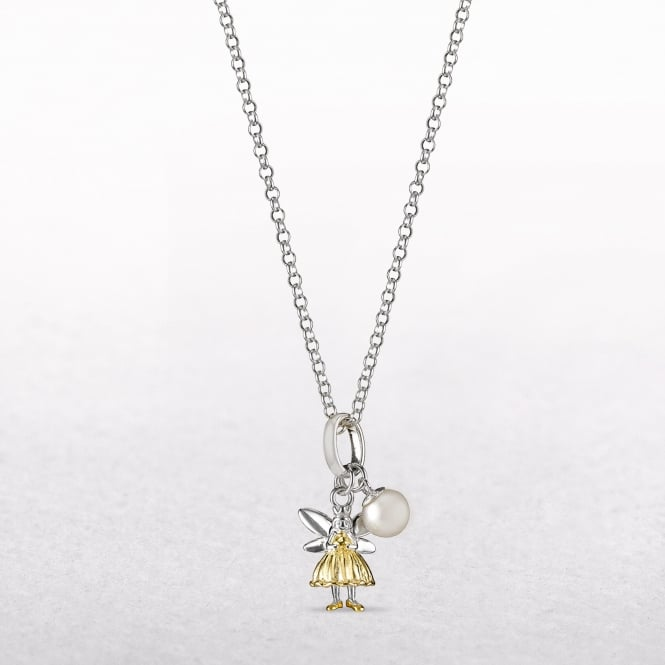 Gold & Pearl Fairy Wish Molly Brown Necklace