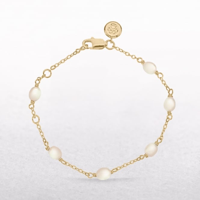 Gold Vermeil Molly Brown Signature Pearl Station Bracelet