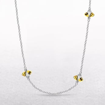 Gold Vermeil Three Honey Bee Molly Brown Necklace