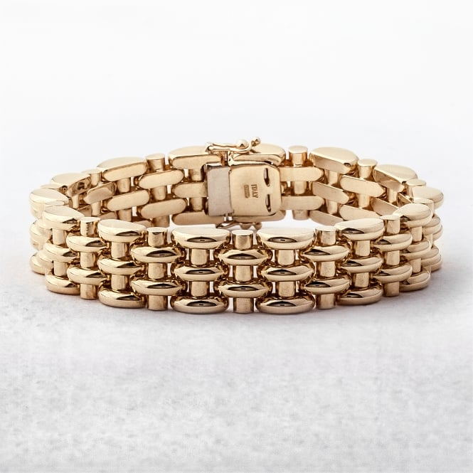 Half-Moon Link 18ct Gold Bracelet
