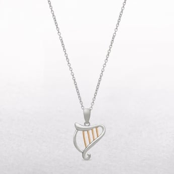 Harp Sterling Silver & Rose Gold House of Lor Pendant