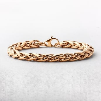 Intertwined Yellow Gold Round Bracelet