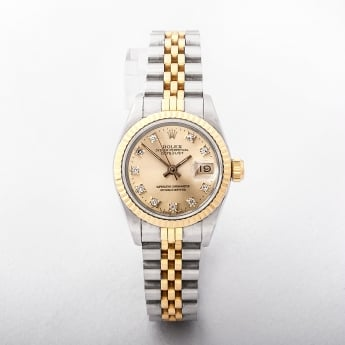 Ladies 1988 Rolex Two Tone Diamond Watch