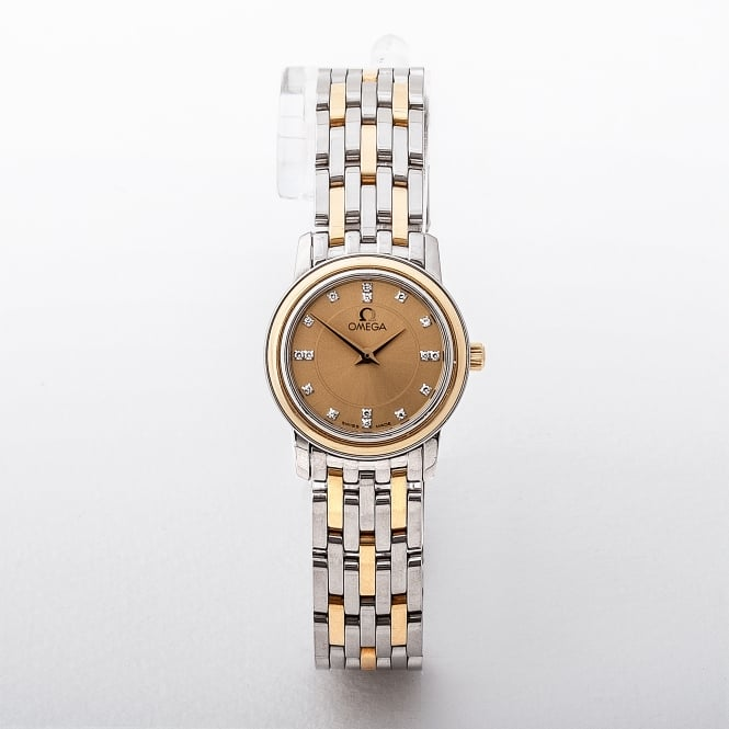 Ladies 1998 Omega De Ville On Stainless Steel and Gold Bracelet