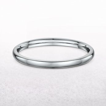 Ladies 2.5mm Classic Wedding Ring in 18ct White Gold