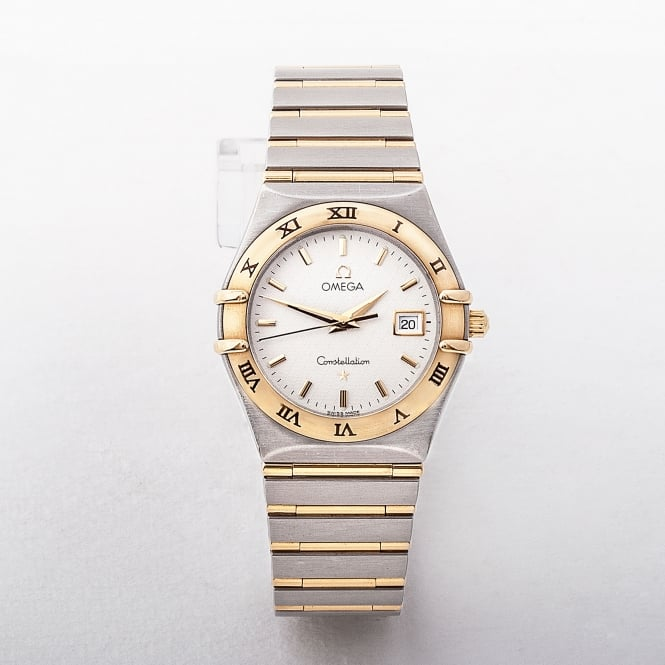 Ladies 2000 Omega Two Tone Constellation White Dial Watch