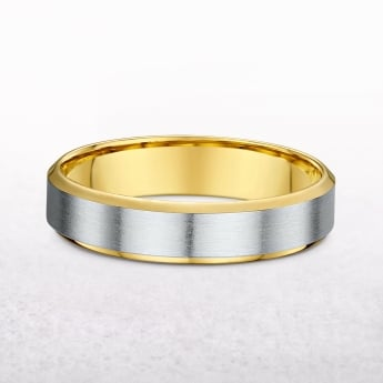 Ladies 5mm Yellow & White Gold Wedding Band
