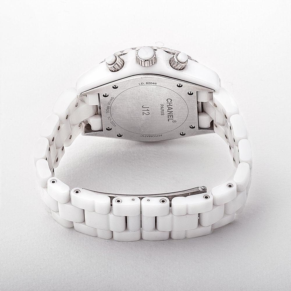 bb75f6d319e3 H1009 Ladies Chanel J12 Chronograph Ceramic   Diamond Watch